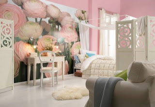 Rose Wall Murals For Teenage Bedroom