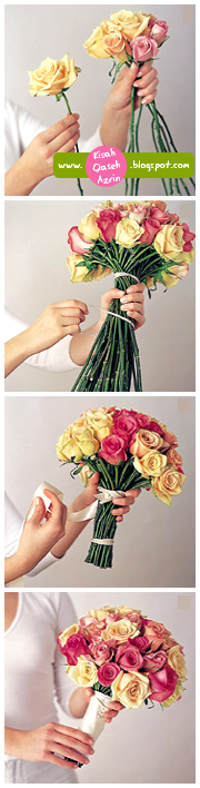 Cara membuat bunga tangan