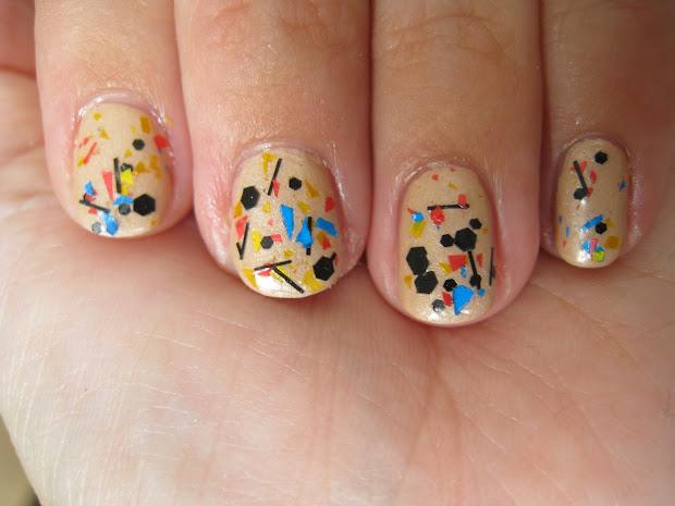 sparkling nails graffiti nail