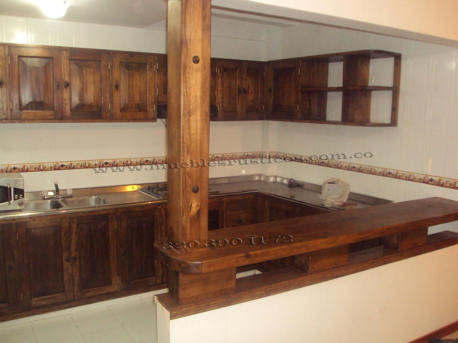 Muebles rusticos bogota cocinas integrales en madera for Muebles cocina rusticos