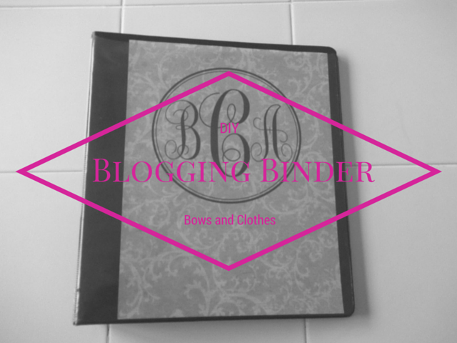 DIY Blogging Binder: Full Reveal. Awesome ideas for a DIY blogging binder! #BowsandClothes #blogging #diy