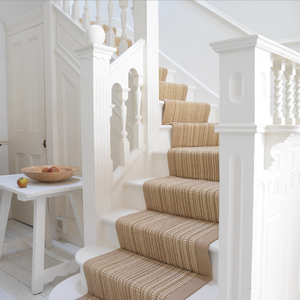 House of marlowe interiors striped stair runners - Alfombras para escaleras ...