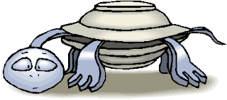 Confuse Turtle Walking Free Clipart