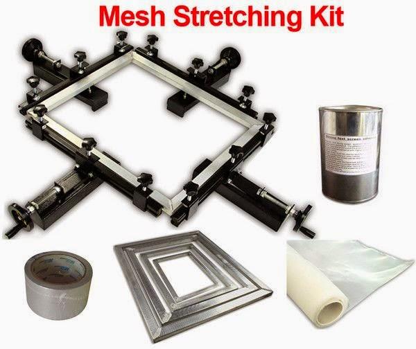 شد الحرير على الإطار- mesh stretching kit