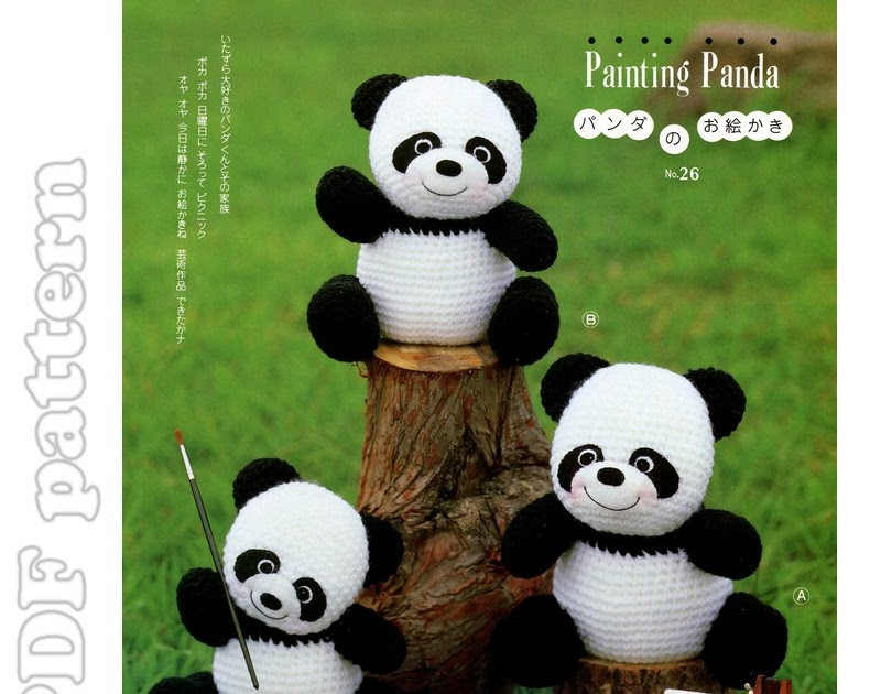 Amigurumi Bigfoot Panda : Amigurumi Panda Family Plush Crochet Pattern PDF ...