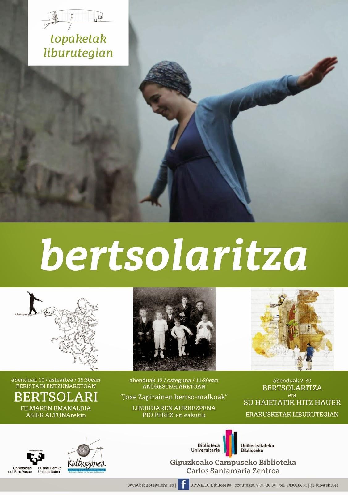 Topaketak Libututegian: Bertsolaritza