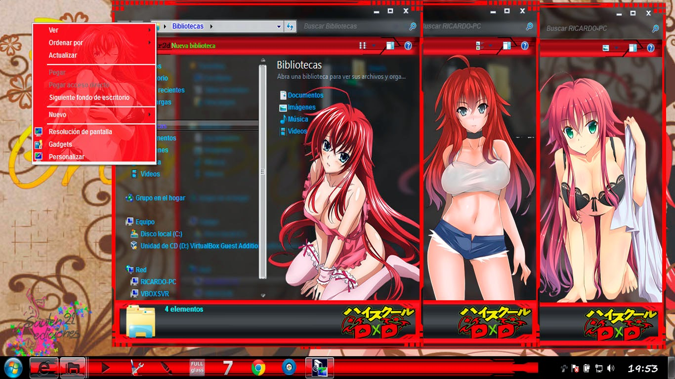 Rias Gremory[ Theme Windows 7 ] 3