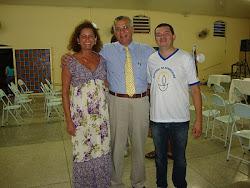 Coordenadora Cidinha,  Dr. Renato e Francisco