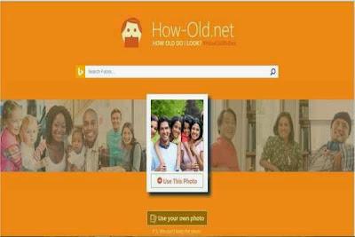 Tampilan Situs How-Old.Net
