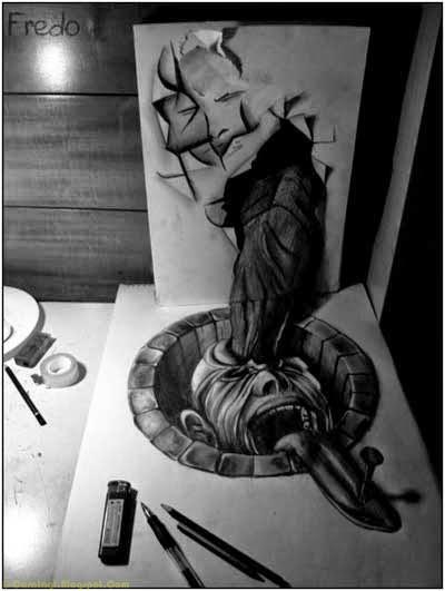 Lukisan Pensil 3D 7