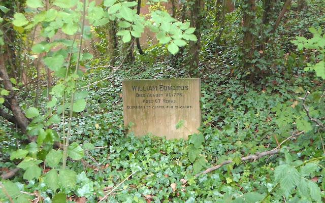 William Edwards gravestone in Longden Green