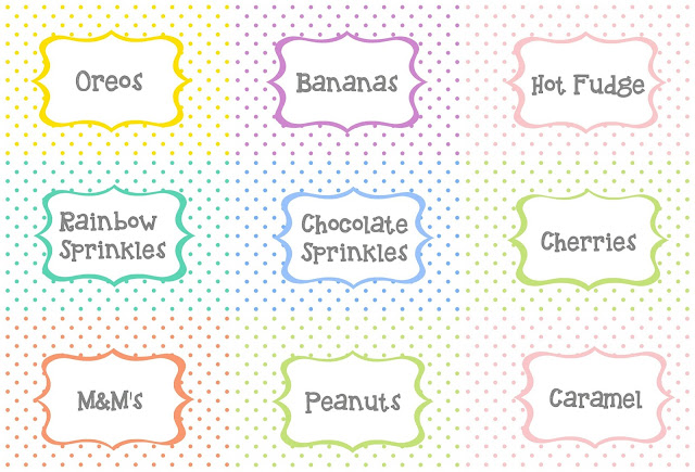 It\'s A Mom\'s World: Ice Cream Sundae Bar Printables