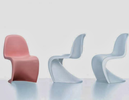 panton chairs are a solid plastic chair made in a single mold finished with a matt surface