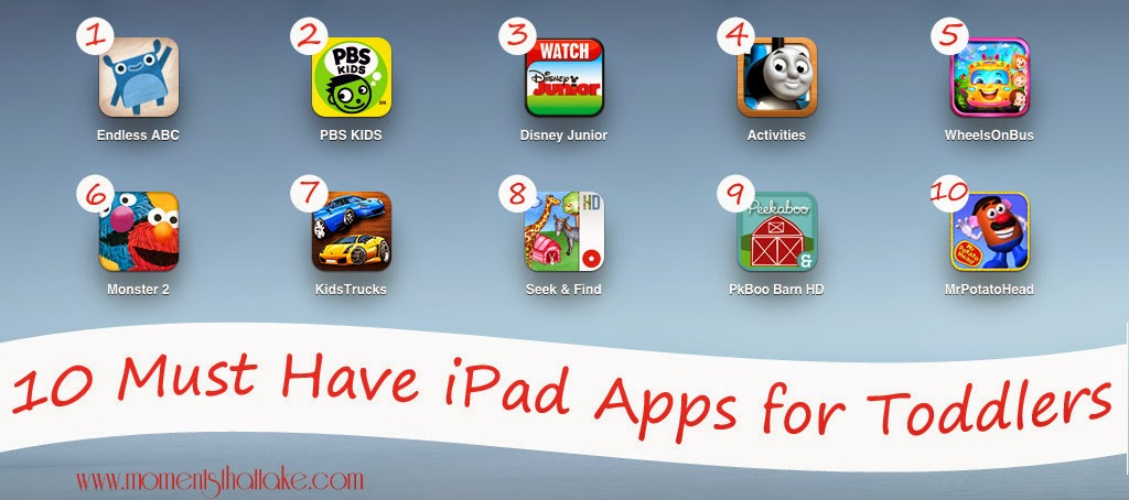 10 Must Have iPad Apps for Toddlers