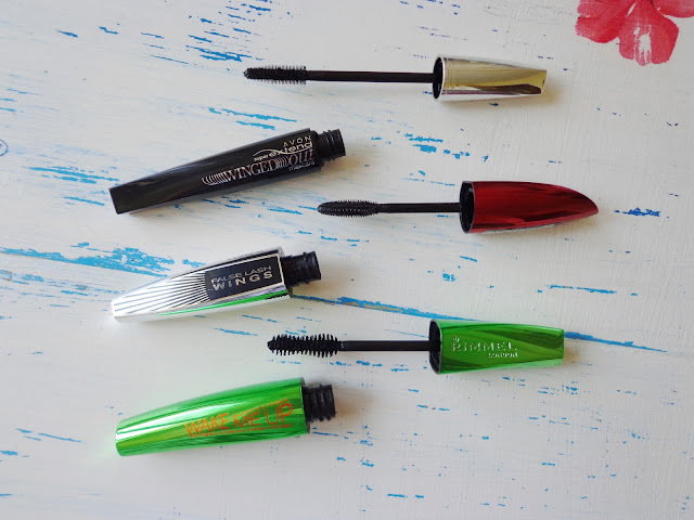 Mascaras by Avon, Rimmel and L'Oreal