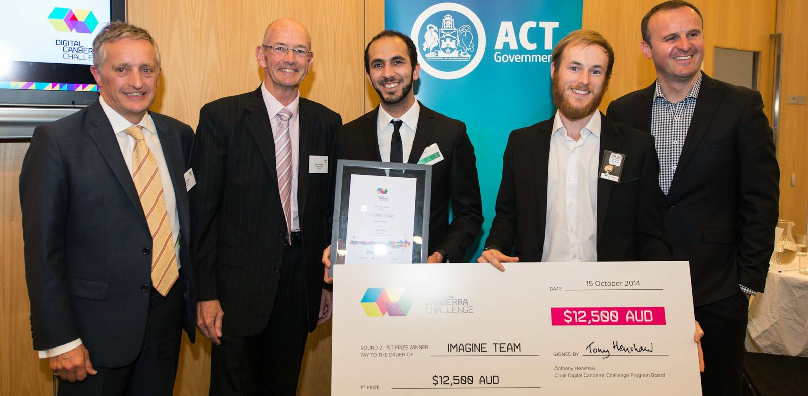 Winners of round 2 of the Digital Canberra Challenge