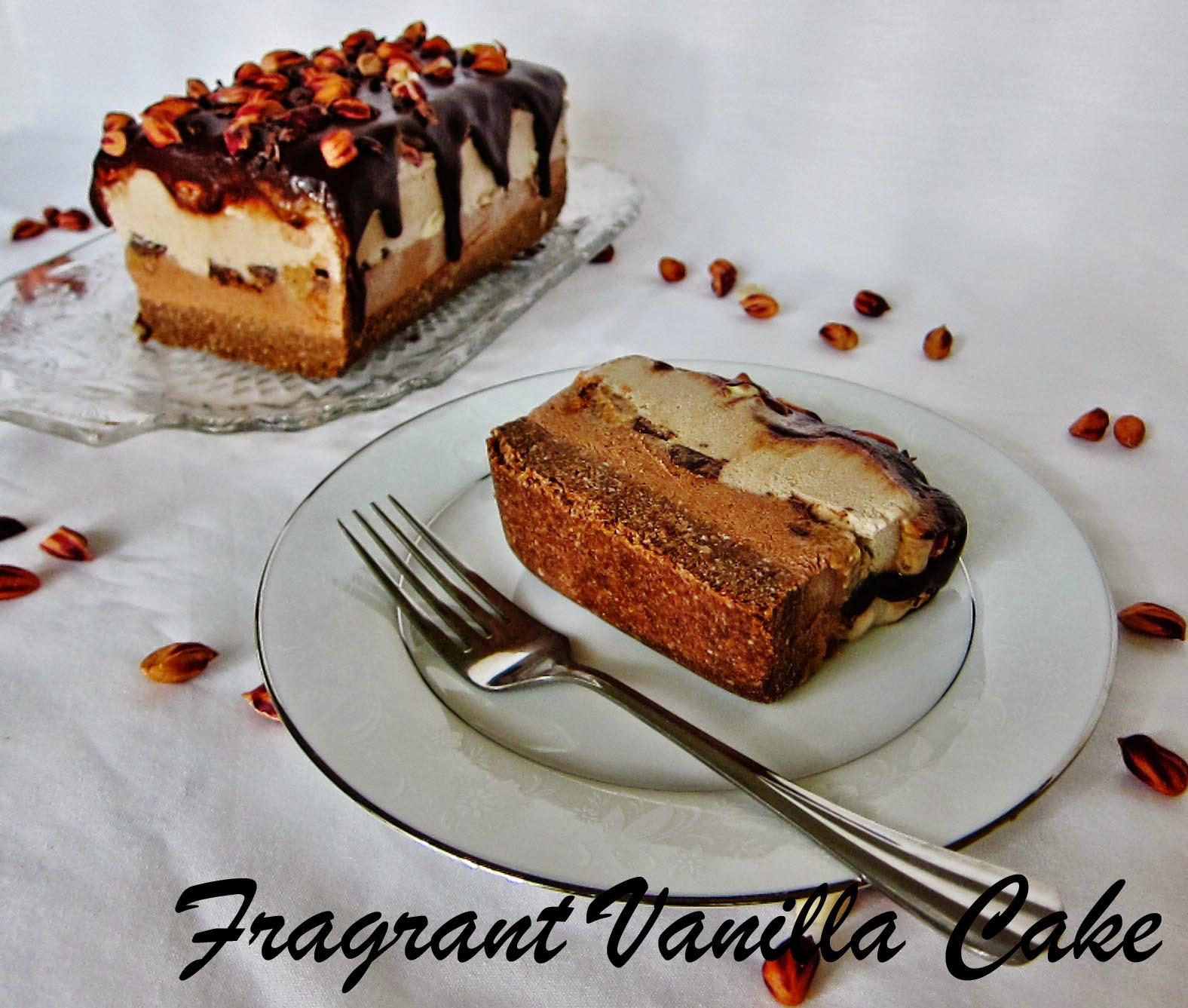 Fragrant Vanilla Cake: Raw Snickers Ice Cream Cake