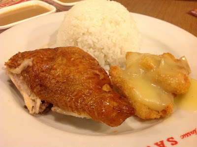 savory-chicken-with-crispy-fish-fillet