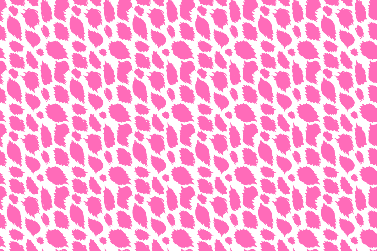 Pink cheetah print pattern