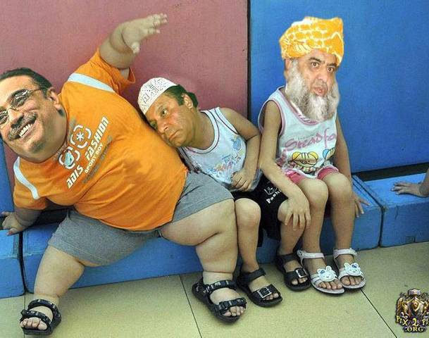 FACEBOOK FUNNY PICTURES: Zardari & Nawaz Sharif & Mulana Fazlurahmannawaz shrif funny