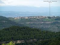 Vista de Talamanca des del Serrat del Feliu