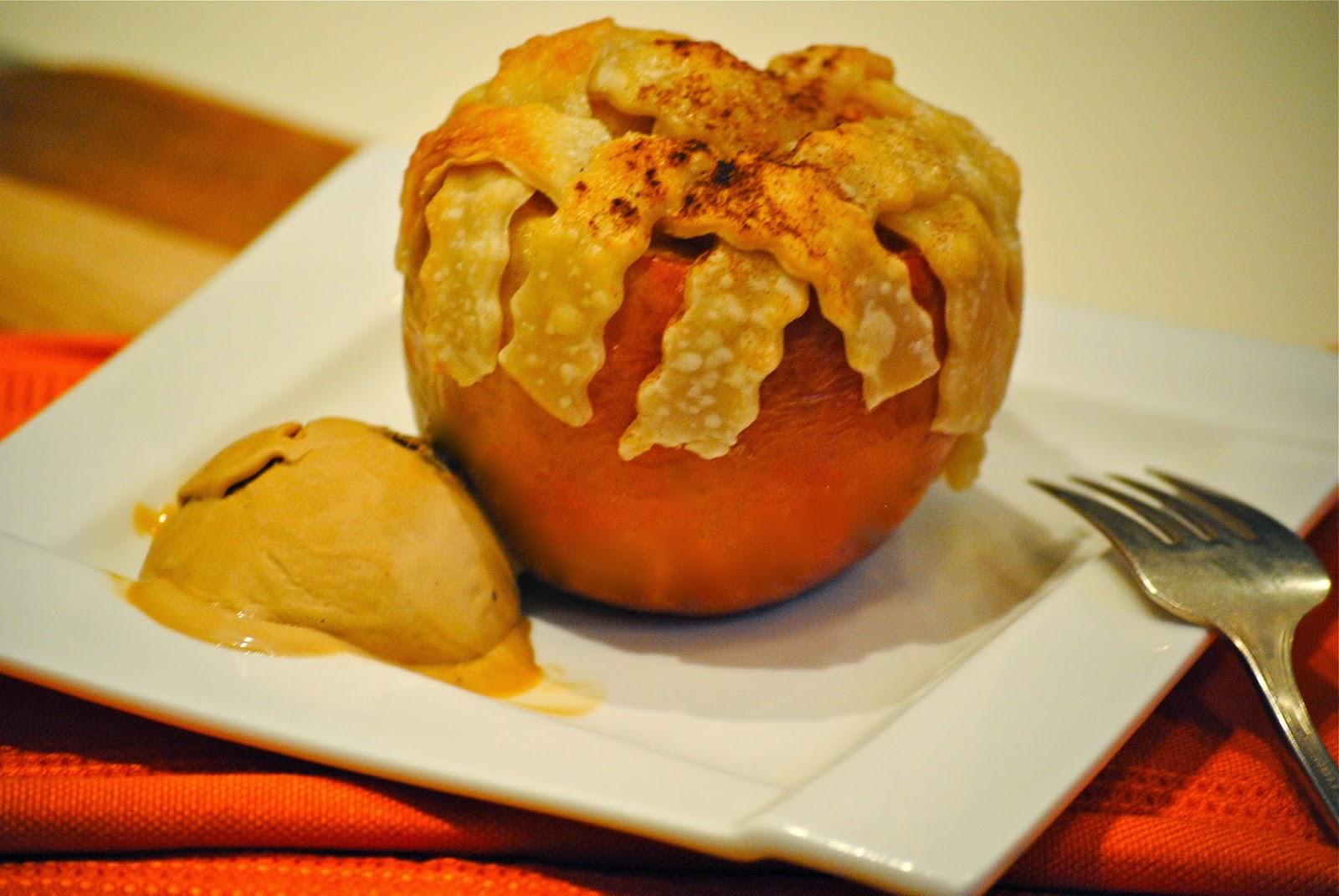 apple pie in an apple…a fun recipe