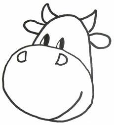 рисуем корову пршагово