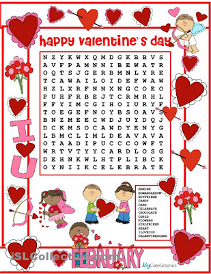 Valentines Word Searches Hard 1
