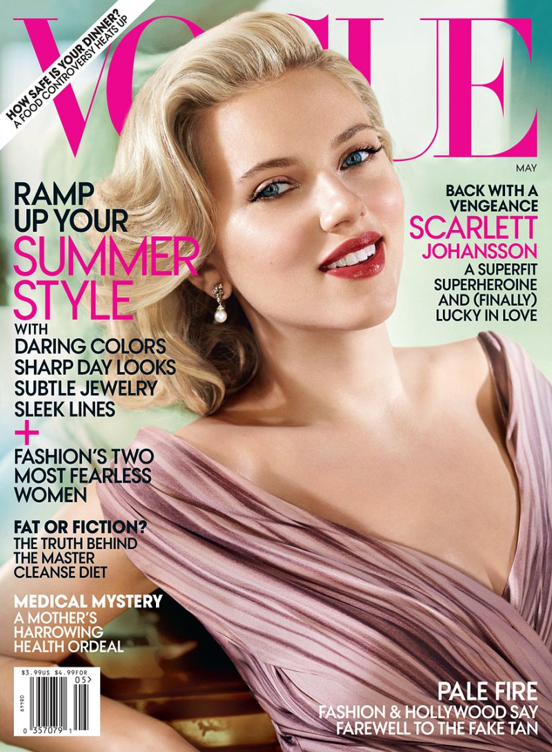 Vogue US May 2012: Scarlett Johansson by Mario Testino
