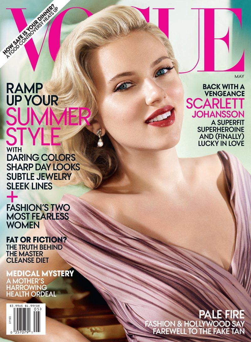 Vogue US May 2012: Scarlett Johansson by Mario Testino