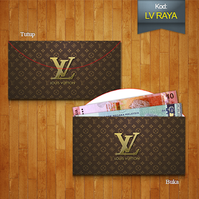 sampul raya design dompet lv purse