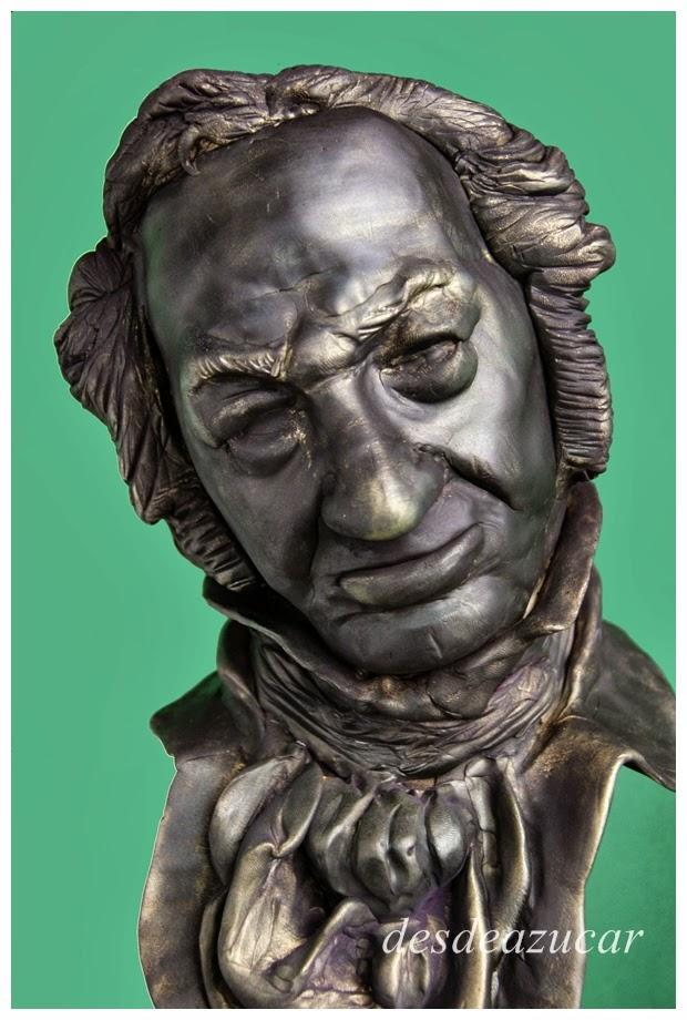 tarta fondant, tartas fondant, tartas fondant Sevilla, Goya, estatuilla Goya, premios Goya, tarta fondant Goya