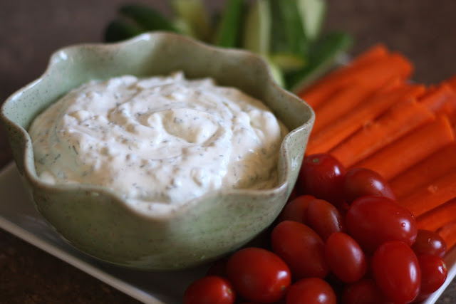 Homemade Ranch Dip with Fresh Herbs recipe by Barefeet In The Kitchen
