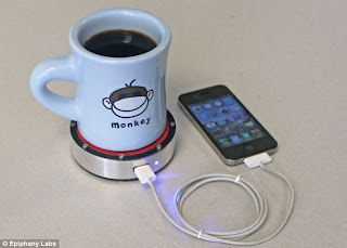 Charge iPhone using A Hot Cup of Coffee (or a cold can of beer)