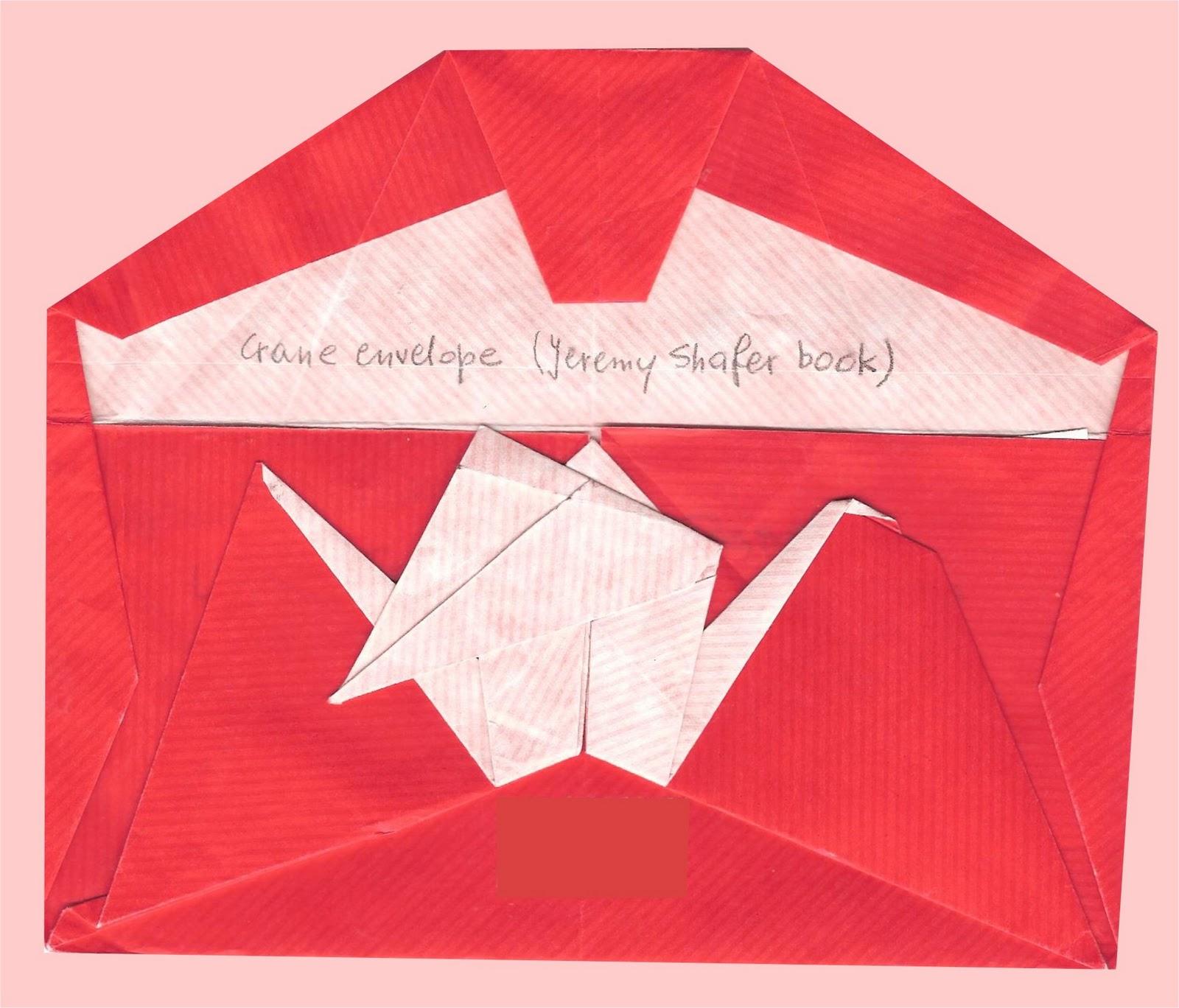 Elfa Exchange Origami Mailart Crane Envelope Jeremy Shafer Diagrams Open Model By