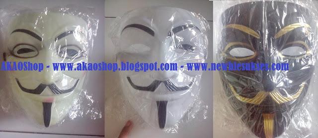 Jual Topeng Anonymous / V For Vendetta Bahan PVC Murah Daerah Kota Serang 2015