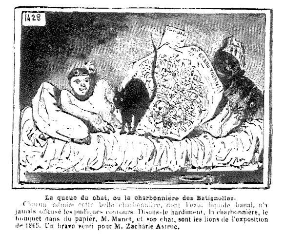 Olympia de manet et la naissance du petit b niste par for Devant le miroir manet