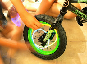 Place glow sticks in your bike's spokes