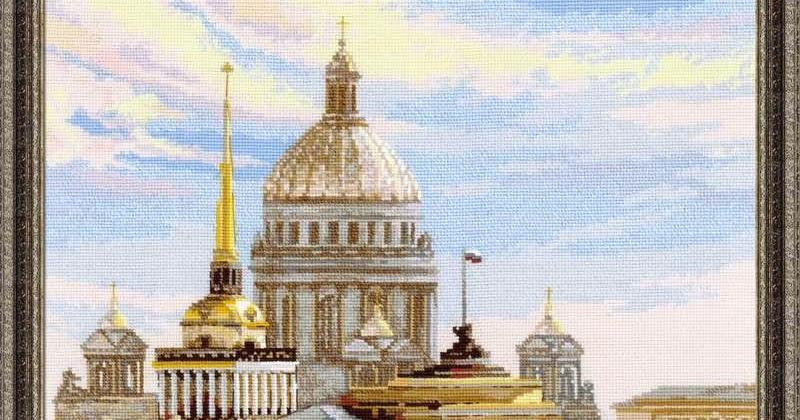Санкт-петербург адмиралтейская набережная схема вышивки 7