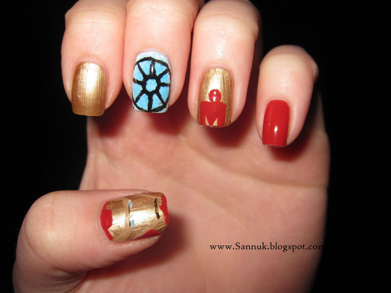 Sandra\'s Nails (not active anymore): Iron Man Mani
