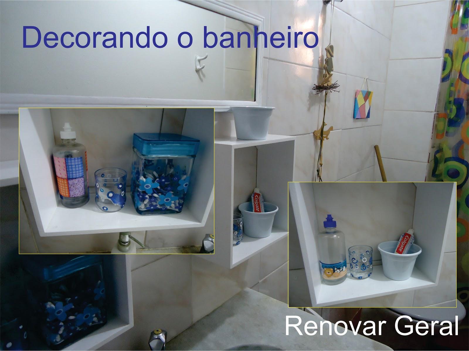 Renovar Geral: Decorando o banheiro antigo #2D416E 1600x1200 Armario Banheiro Antigo