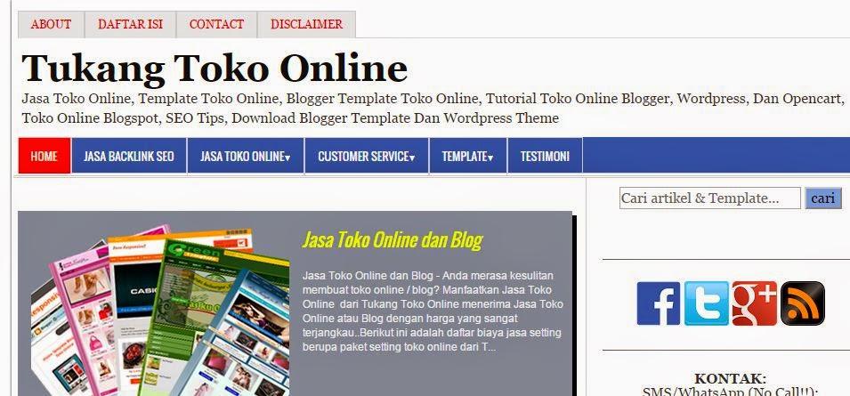 tukang toko online blog