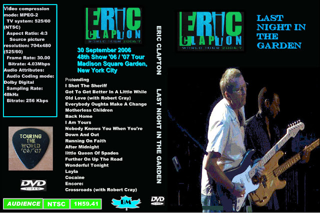 Dvd concert eric clapton 2006 09 30 madison square garden new york ny for Madison square garden concert tonight