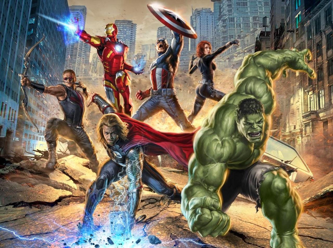 Arte dos Vingadores, os heróis mais poderosos da Terra, da Marvel