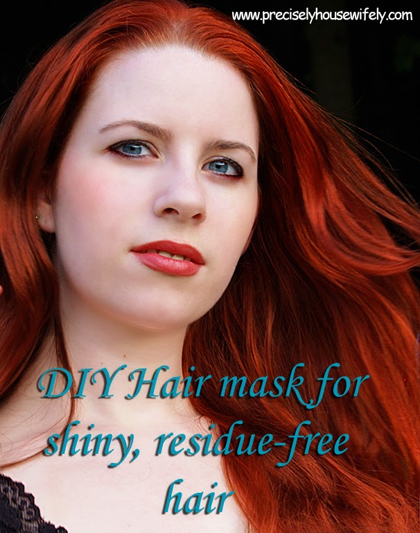 DIY soft shiny hair mask