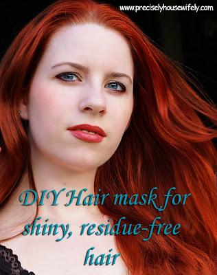 DIY soft shiny hair mask