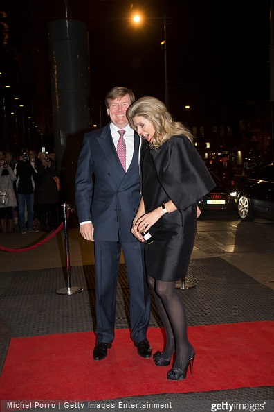Queen Maxima of The Netherlands and King Willem-Alexander of The Netherlands arrive to attend the final concert by conductor Mariss Jansons with the Royal Concertgebouw Orchestra on March 20, 2015 in Amsterdam, The Netherlands