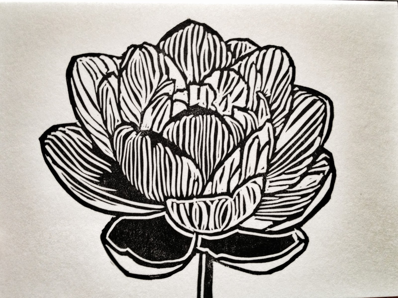 LOTUS Blossom Cards - 3 Hand Printed Linocuts on Premium Heavy Weight Paper (With Envelopes)https://www.etsy.com/listing/160926428/lotus-blossom-cards-3-hand-printed?ref=related-1