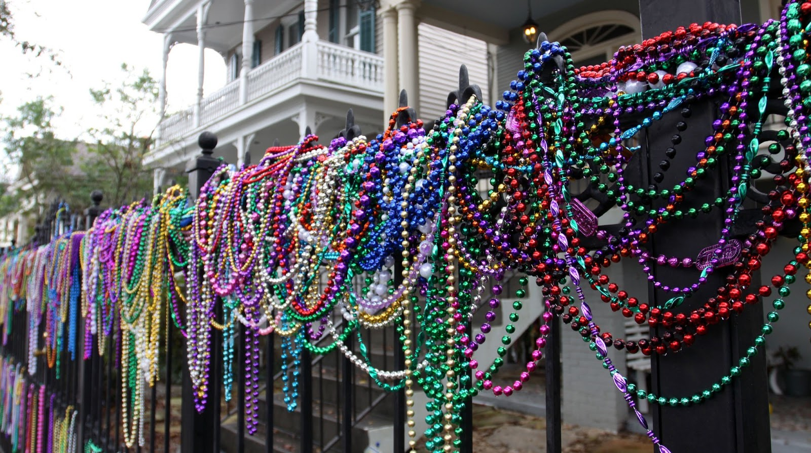celebration stock carnival background of horns mardi gras photo colorful beads a on