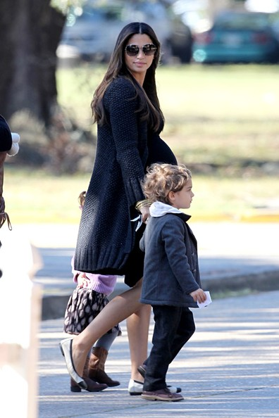 Sandra Bullock and Camila Alves Take Their Kids to the ... Sandra Bullock's Son